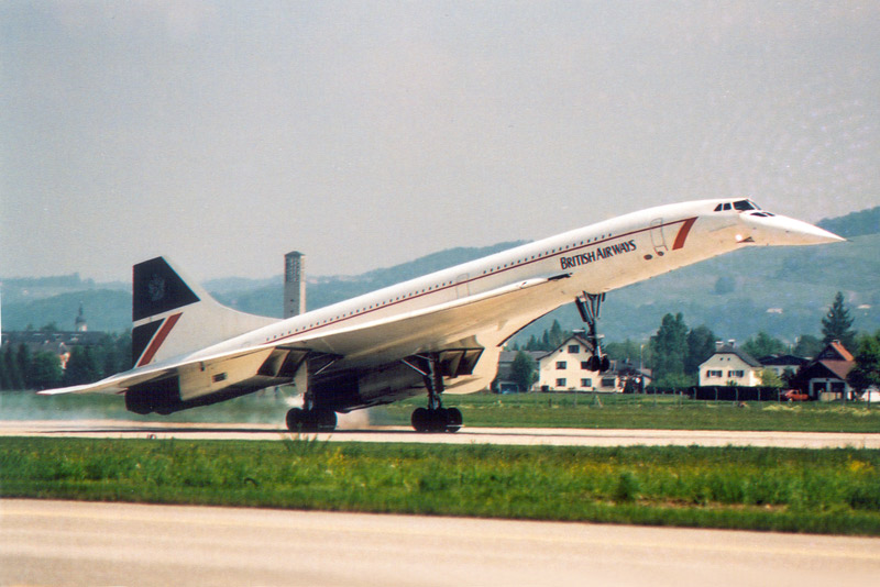 1988 Die Concorde der British-Airways