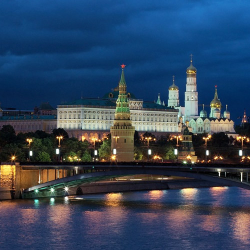 Moscow, Kremlin at night